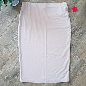 Pink Midi Skirt Size Large Forever 21